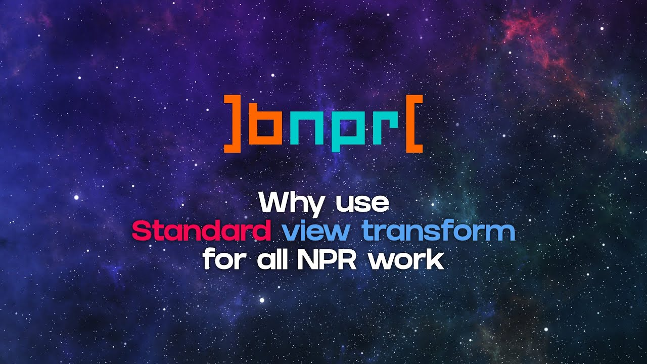 Standard View Transform for NPR