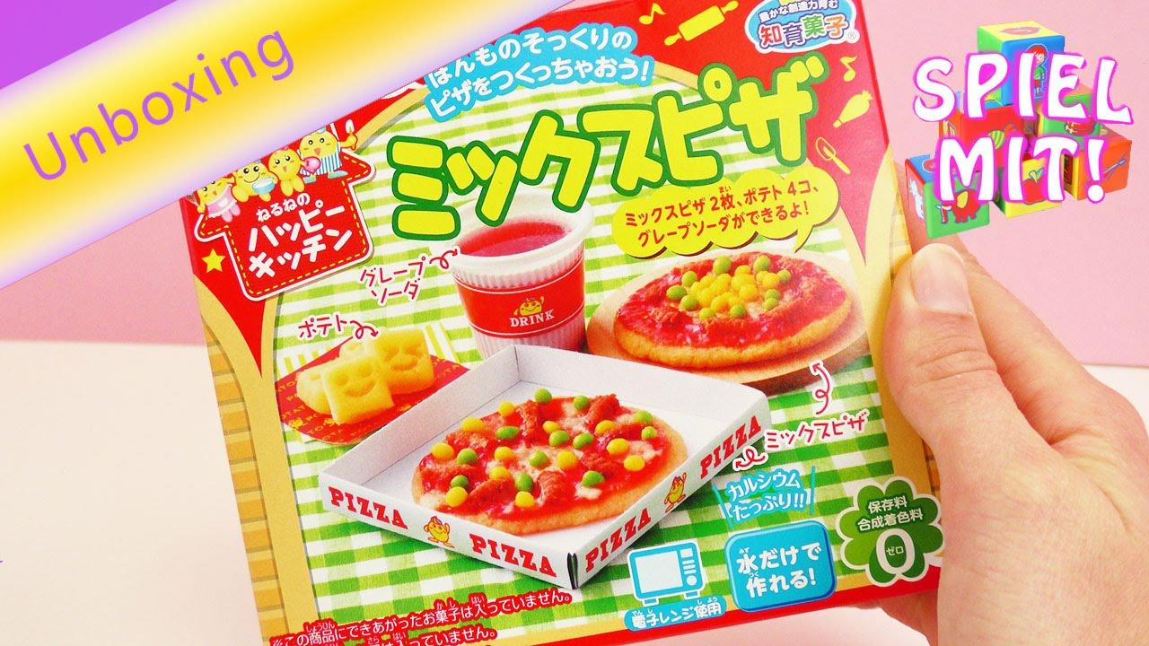 asiatische s igkeiten diy mini pizza selber machen bastelset unboxing popin 39 cookin pizza. Black Bedroom Furniture Sets. Home Design Ideas