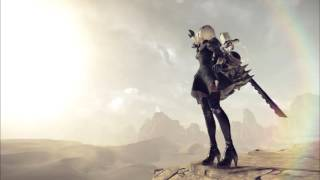 NieR Automata Excavator battle w/ Song of the Ancients vocals