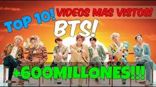 Los 10 Vídeos Mas vistos de BTS! 2020! SACROS KPOP