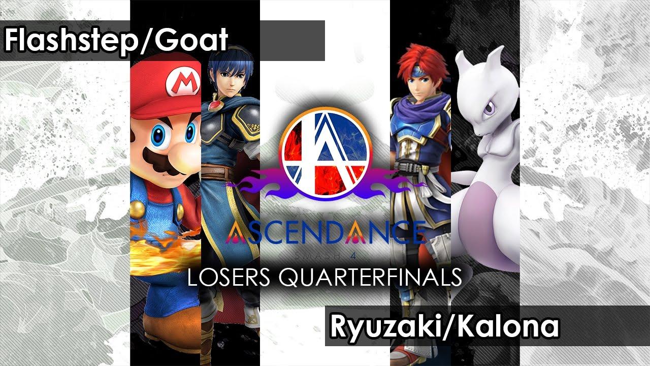 Smash 4: Flashstep/Goat V Ryuzaki/Kalona - Ascendance 27 Tournament SSB4
