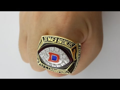 1977 Denver Broncos AFC Replica Ring,Create your own rings now.