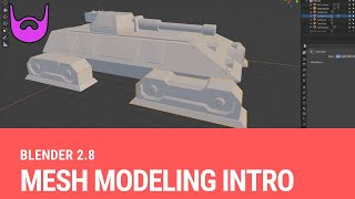 Intro to Mesh Modeling [Blender 2.8]