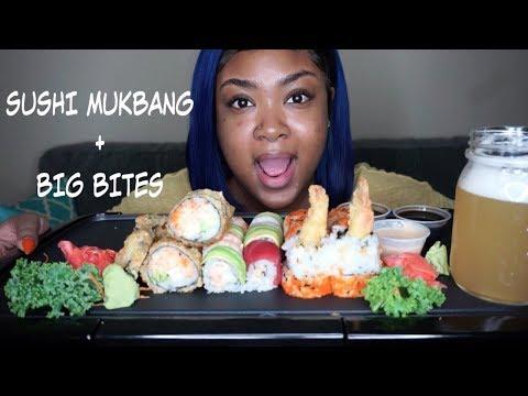 SUSHI MUKBANG + BIG BITES| EATING SHOW thumbnail