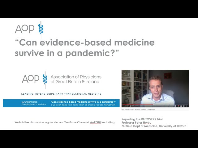 """""""Can evidence-based medicine survive in a pandemic?"""""""