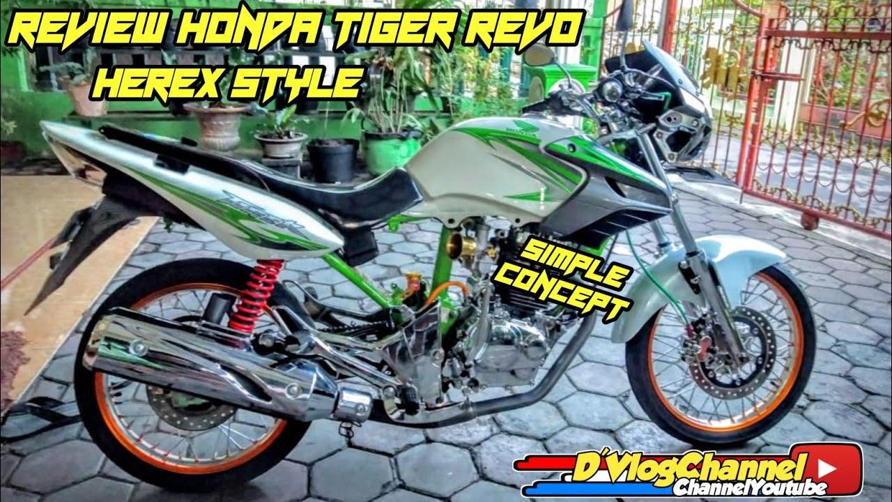Review Modifikasi Honda Tiger Revo Herex Style Tirev Simple Concept Youtube