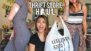 TRY-ON THRIFT STORE CLOTHING HAUL | Diana Moore