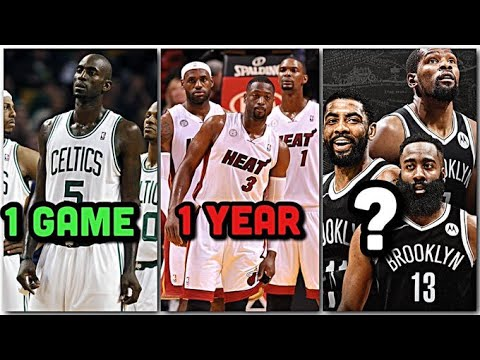 Exactly how long did it take these NBA Big 3's to actually work?