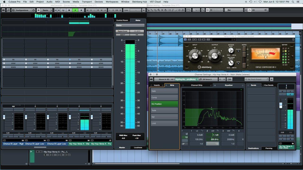 Mixing Hip Hop Vocals with Stock Plugins (Cubase)