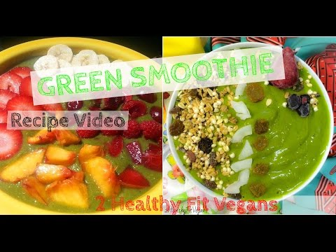 Green Smoothie for Weight Loss – 2HealthyFitVegans Recipe Video