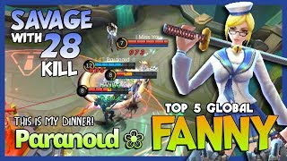"Video Dinner Time with ""Savage"" as Dessert! Pαrαnoιd ❀ Ranked 5 Global Fanny ~ Mobile Legends download MP3, 3GP, MP4, WEBM, AVI, FLV Maret 2018"
