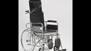 Ивалидное кресло-туалет с высокой спинкой FS 609. Раскладывается в горизонталь(, 2013-12-25T07:37:07.000Z)