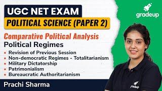 Political Science : Poltical Regimes Part 2 | Political Science | UGC NET | Gradeup | Prachi Sharma