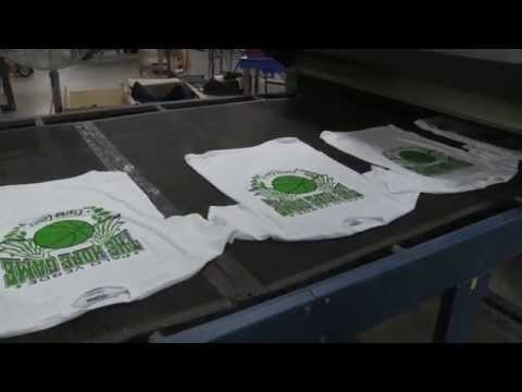 Screen Printing in Action - The Hope Game