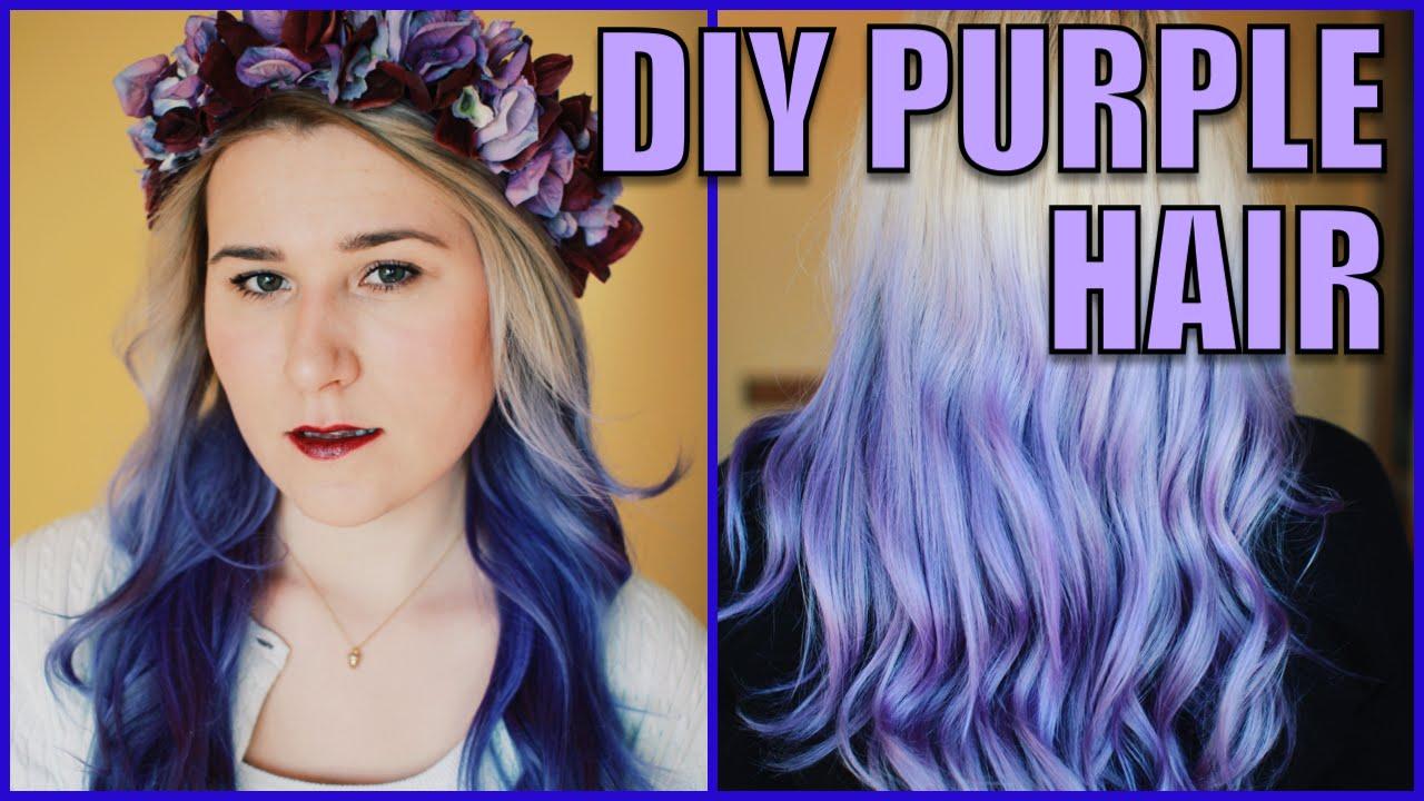 diy purple ombre hair ft. manic