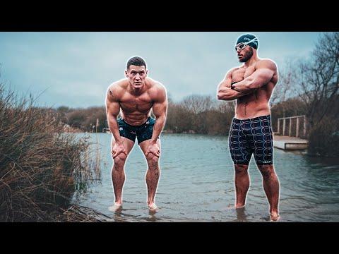 Bodybuilder tries ICE SWIMMING | ft. Ross Edgley