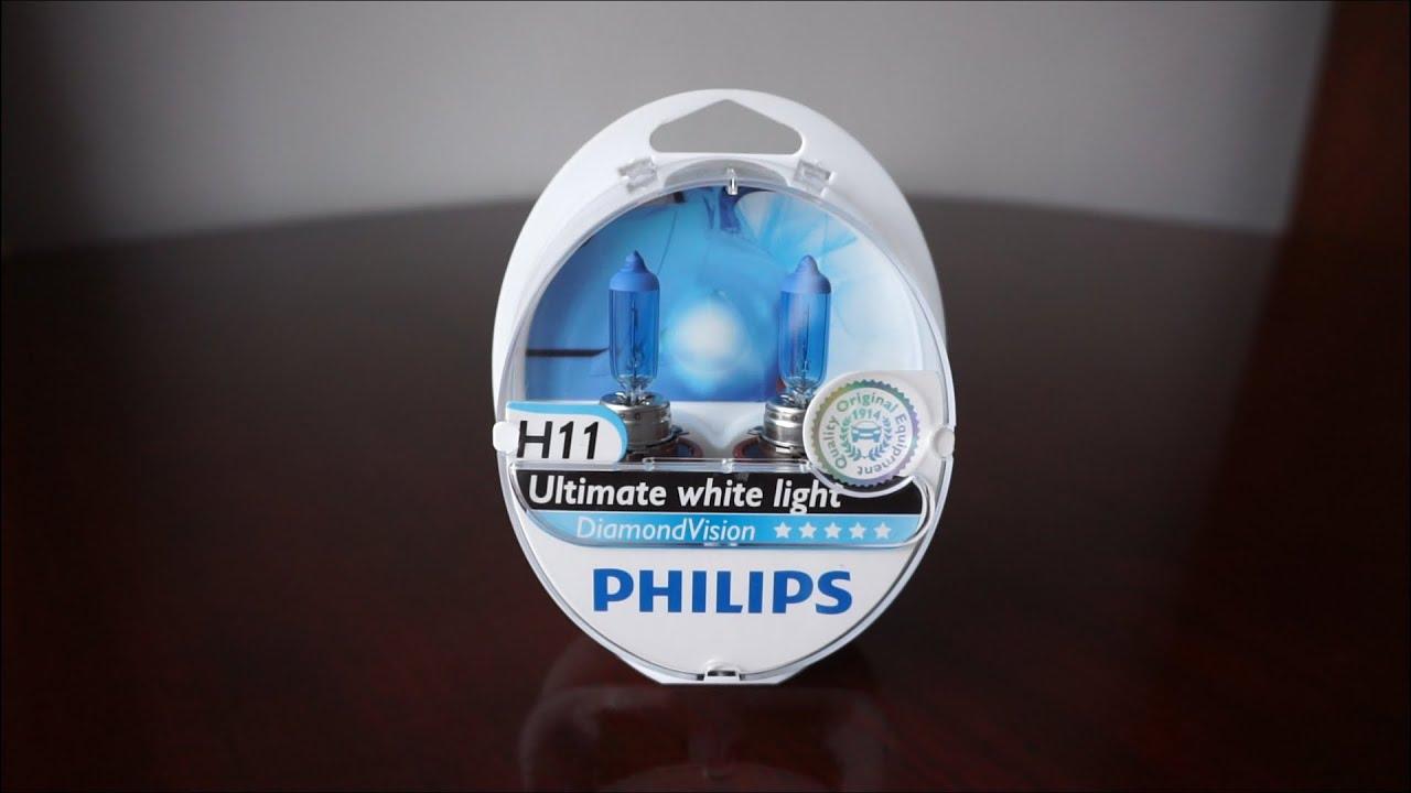 Philips Diamond Vision H11 5000k Vs Philips Whitevision
