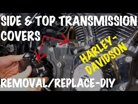 Remove-Install Harley Side & Top Transmission Covers-DIY-Motorcycle Podcast