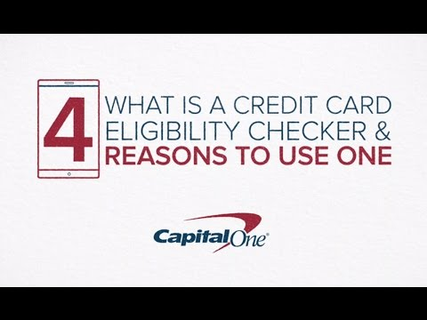 Capital One Whats Credit Card Eligibility Checker