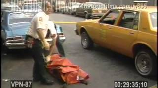 BODY REMOVAL OF CABBIE HOMICIDE EAST 13 STREET & AVE C, MANHATTAN -1988