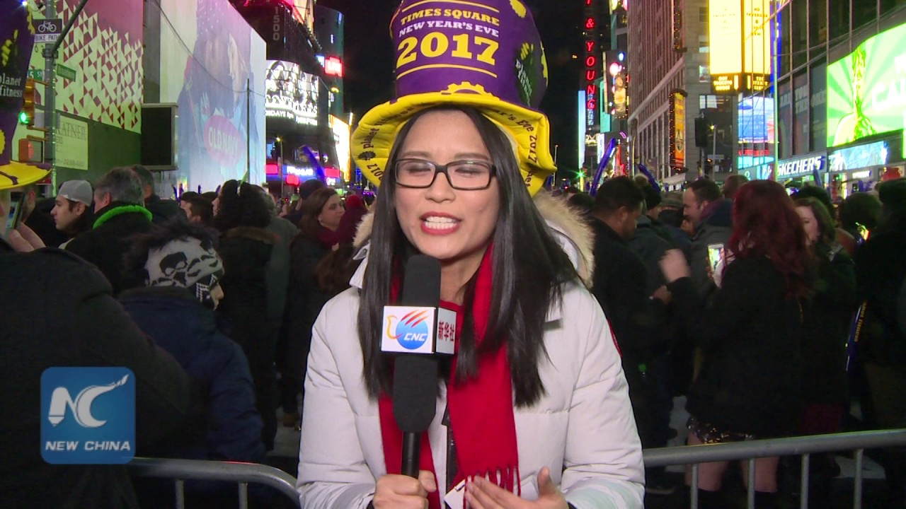 2017 NYC Times Square New Year's Eve Countdown