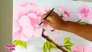 Como Pintar Un Cuadro Con Flores De Cerezo
