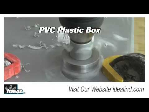 TKO™ Carbide Tipped Hole Cutter on Plastic Boxes