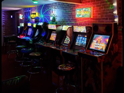 Basement Mini Game Room Tour Part 1 / iiRcade Dragon's Lair Edition / Arcade1up / ToyShock Pinball from Keon