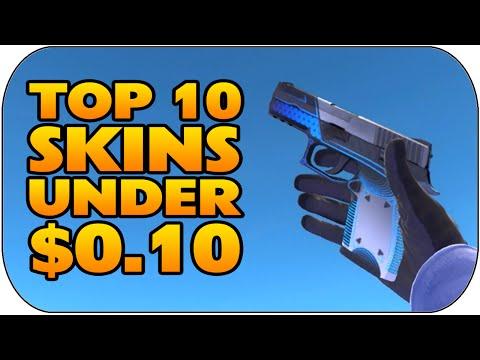 CSGO - Top 10 Skins Under $0.10 (Best Cheap Skins Under 10 Cents)