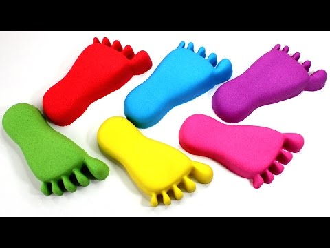 Thumbnail: DIY Kinetic Sand Feet Pez Nails Learn Colors Bunchems Surprise Toys Opening
