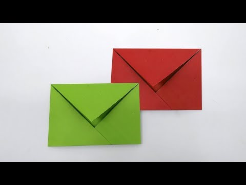DIY - Easy origami envelope tutorial | How to make a super paper envelope (without any glue or tape)