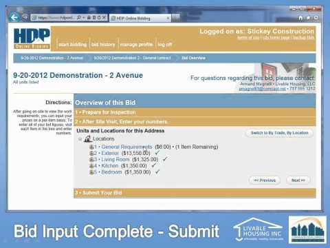 HDP Online Bidding recorded webinar
