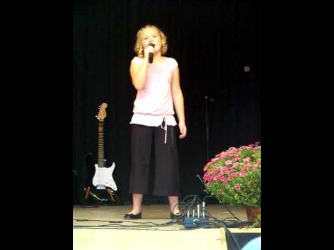 Kaitlyn singing in the Talent Show at the Chowan County Fair!