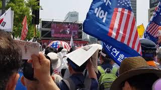 거리투사로 나선 박관용 전 국회의장의 광화문 열변