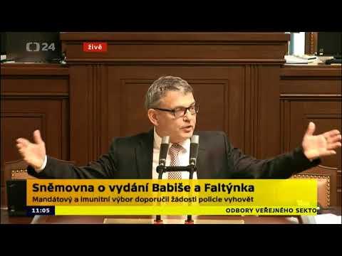 Lubomír Zaorálek : Rokování o vydání Babiše a Faltínka