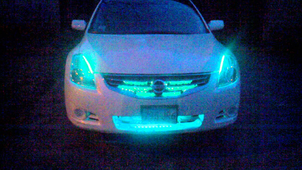 Nissan Altima Coupe Custom my nissan altima rgb led lighting - YouTube