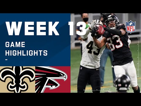 Saints vs. Falcons Week 13 Highlights | NFL 2020