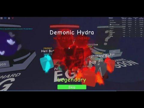 I Got The Demonic Hydra Pet Best Possible Pet Roblox - Got Legendary Demonic Hydra Spend 29m Gem 80time Roblox
