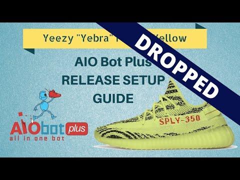 "AIO Bot Plus - Adidas Setup for Yeezy Semi Frozen Yellow 350 V2 ""Yebra"""