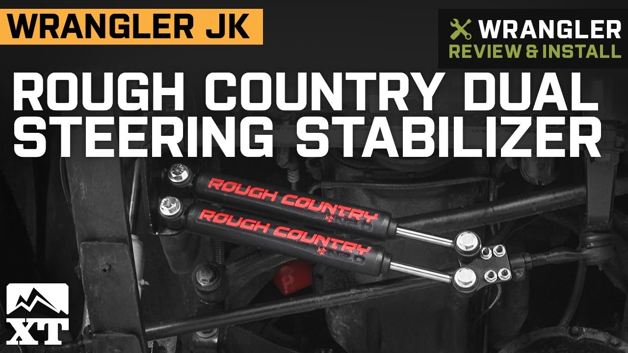 4 Dual Steering Stabilizer Cylinder Kit for 1987-1995 Jeep Wrangler YJ Models w//4in-up Suspension Lift
