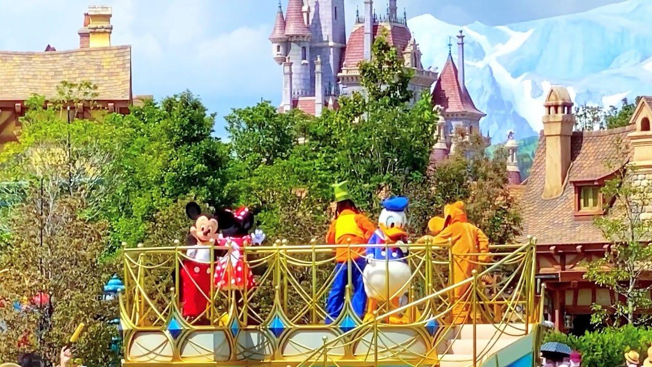 ディズニー ランド  美女と野獣  ベイマックス  ミッキーマウス  ミニーマウス  パレード  Disneyland  Beauty and the Beast  BAYMAX  Mickey