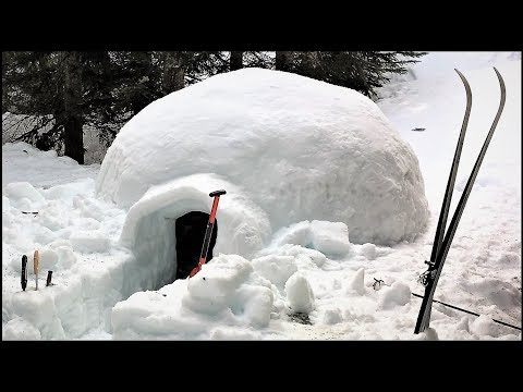 How to build an igloo for overnight snow camping