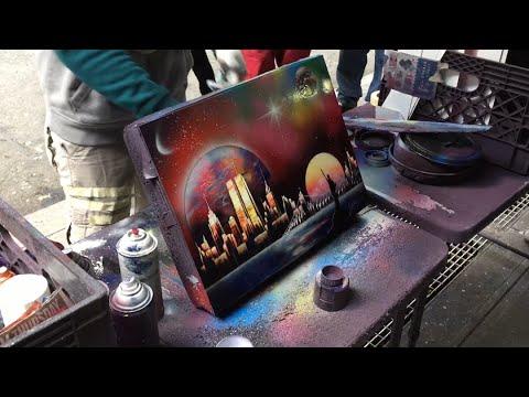 Amazing Spray Paint Art New York 2015