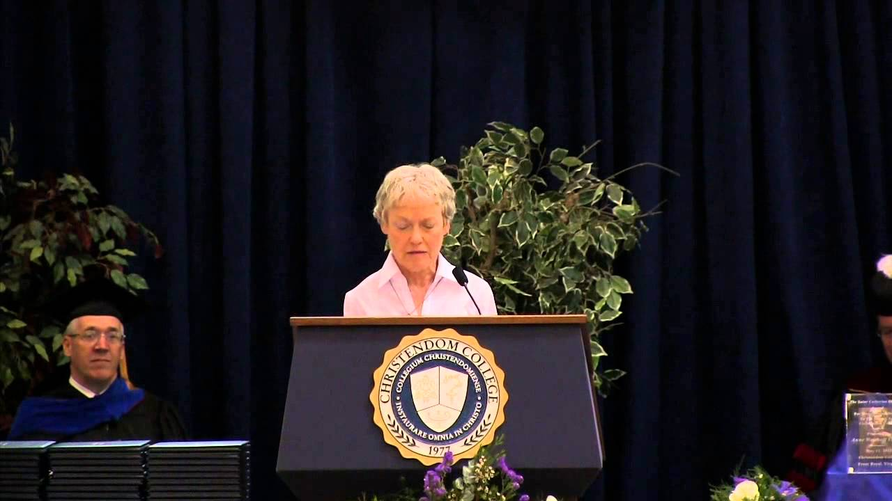 Commencement 2013 - Remarks by Mrs. Anne Carroll - YouTube