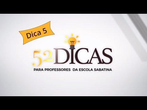 #Dica5 - Dicas para Professores da Escola Sabatina | Arilton de Oliveira