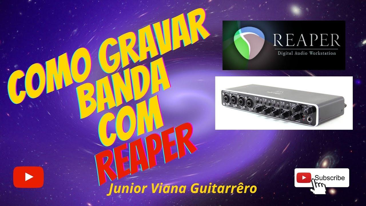 Configurando a interface Behringer U-Phoria UMC404hd para gravar multipista no REAPER