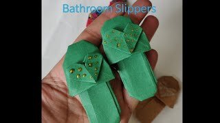 #Easy #Origami bathroom slippers | chappal | heart shaped paper shoes | #Valentine gifts | #diy
