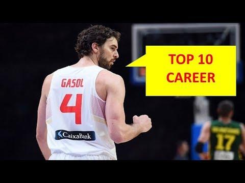 PAU GASOL - TOP 10 PLAYS IN HIS CAREER