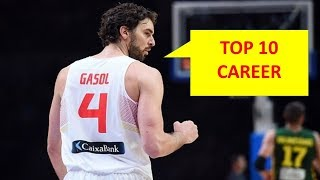 PAU GASOL - TOP 10 PLAYS IN HIS CAREER