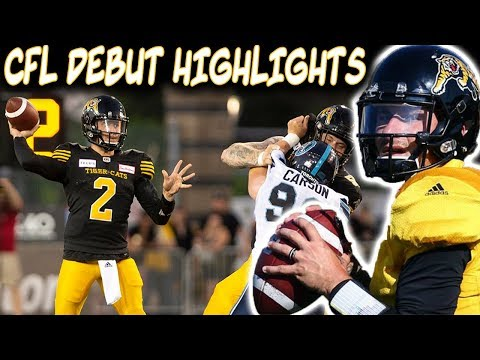 Johnny Manziel Has Brief ALTERCATION In CFL Debut!!! Johnny Manziel CFL Highlights